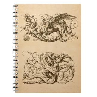 Caderno Espiral Animais fantásticos
