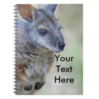 Caderno Espiral Animal nativo australiano do Wallaby