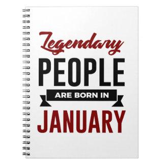 Caderno Espiral Aniversário legendário dos bebês do nascer em