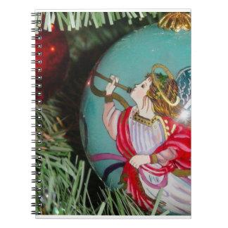 Caderno Espiral Anjo do Natal - arte do Natal - decorações do anjo