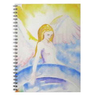 Caderno Espiral Anjo que cura o planeta