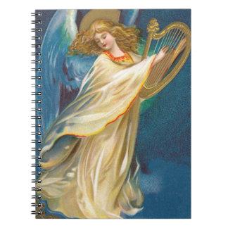 Caderno Espiral Anjo que joga a harpa