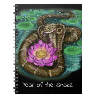 Caderno Espiral Ano chinês do zodíaco do cobra