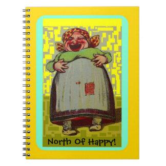 Caderno Espiral Ao norte da senhora de riso feliz Jornal do