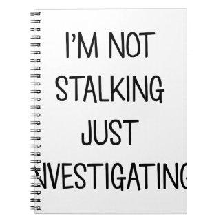 Caderno Espiral Apenas investigando