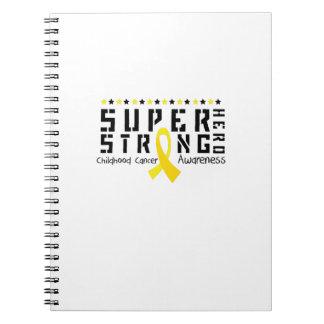 Caderno Espiral Apoio forte da consciência do cancer da infância