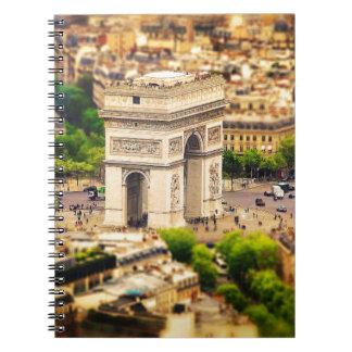 Caderno Espiral Arco do Triunfo de l'Étoile, Paris, France