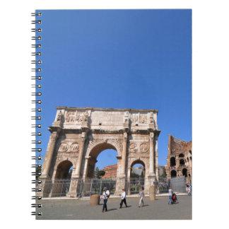 Caderno Espiral Arco em Roma, Italia