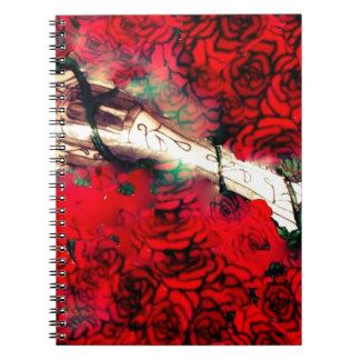 Caderno Espiral Armas e rosas