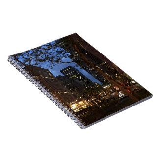 Caderno Espiral Arquitetura Center New York do alvorecer NYC de