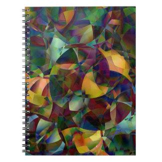 Caderno Espiral Arte abstracta colorida, Kaleidoscopic