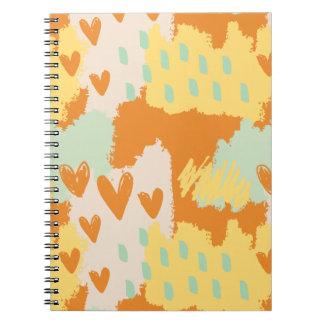 Caderno Espiral Arte abstracta - quando meu coração vier