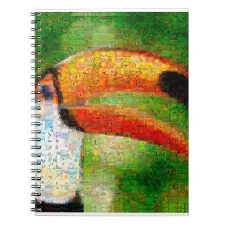 Caderno Espiral Arte da colagem-toucan de Toucan - arte da colagem