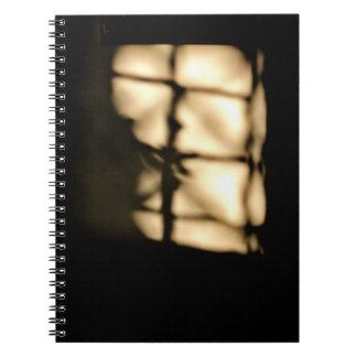 Caderno Espiral Arte da sombra da janela