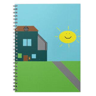 Caderno Espiral Arte do miúdo - céu & luz do sol da casa