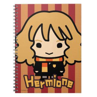 Caderno Espiral Arte do personagem de desenho animado de Hermione