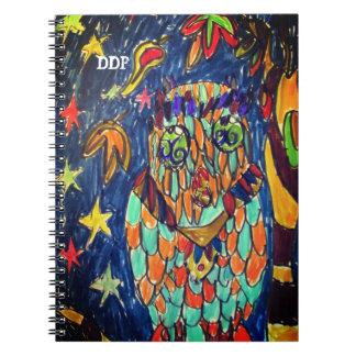 Caderno Espiral arte dois da queda da coruja