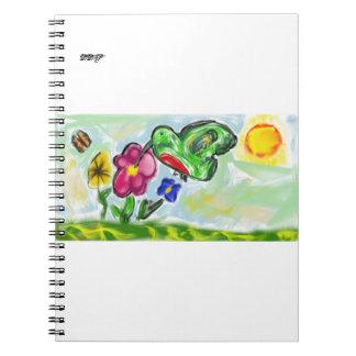 Caderno Espiral arte dois do colibri
