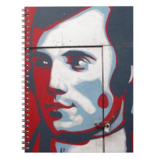 Caderno Espiral Arte original da rua de Robert Burns!