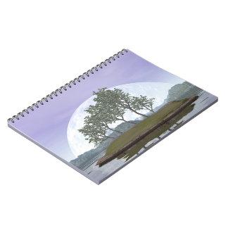 Caderno Espiral Árvore com folhas lisa dos bonsais do olmo - 3D