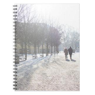 Caderno Espiral Árvore do inverno em Praga (república checa)