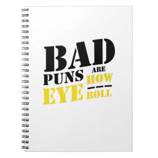Caderno Espiral As chalaças más são como rolo do olho - chalaças