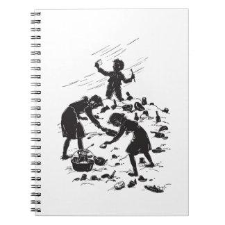 Caderno Espiral As crianças do vagão coberto encontram tesouros na
