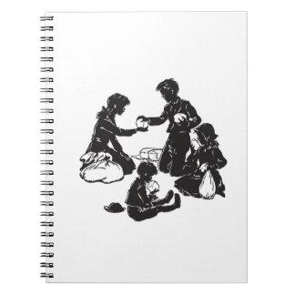 Caderno Espiral As crianças do vagão coberto: Quatro crianças com