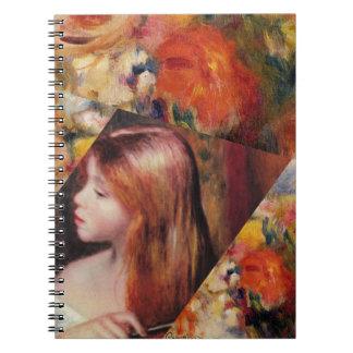 Caderno Espiral As flores e a beleza fêmea misturam-se apenas