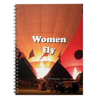 Caderno Espiral As mulheres voam: balão de ar quente 2
