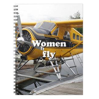 Caderno Espiral As mulheres voam: plano do flutuador, capa do