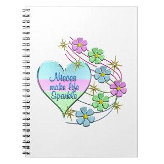 Caderno Espiral As sobrinha fazem a faísca da vida