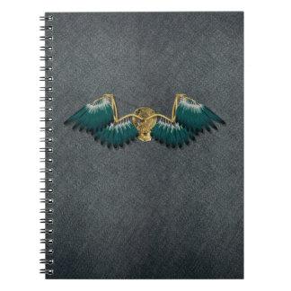Caderno Espiral Asas mecânicas de Steampunk cinzentas
