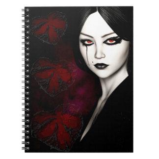 Caderno Espiral Asiático gótico