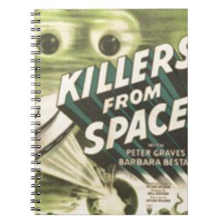 Caderno Espiral Assassinos do espaço