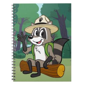 Caderno Espiral Assento do rick da guarda florestal do rick | da
