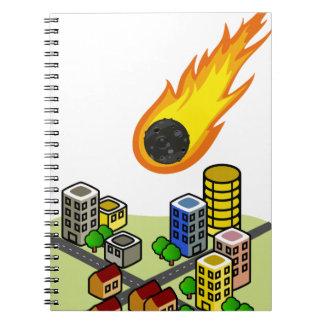 Caderno Espiral Asteróide