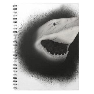 Caderno Espiral Ataque coberto do tubarão