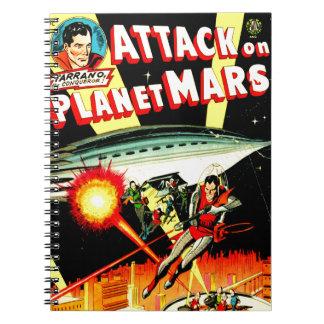 Caderno Espiral Ataque no planeta Marte