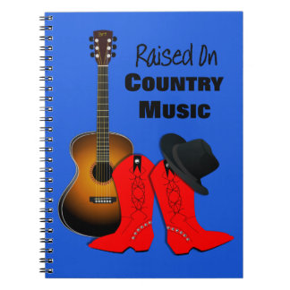 Caderno Espiral Aumentado na vaqueira legal da música country