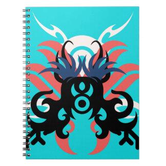 Caderno Espiral Aura da abstracção três