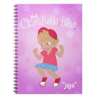 """Caderno espiral azul de ClaraBelle - """"JoJo """""""