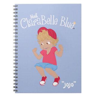 """Caderno espiral azul de ClaraBelle - """"JoJo"""" (azul)"""