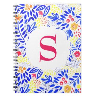 Caderno Espiral Caderno espiral azul personalizado colorido