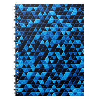 Caderno Espiral Azulejos azuis de incandescência