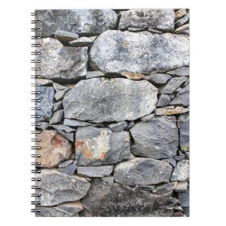 Caderno Espiral Backgound de pedras naturais como a parede