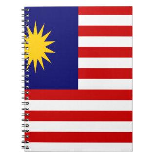 Caderno Espiral Baixo custo! Bandeira de Malaysia