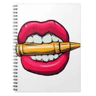 Caderno Espiral bala na boca
