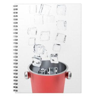Caderno Espiral Balde de gelo