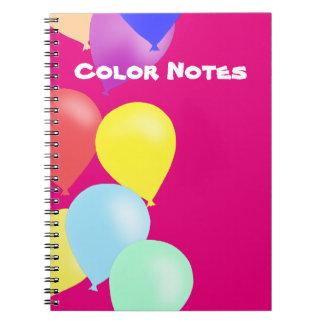 Caderno Espiral Balões pelos Feliz Juul Empresa
